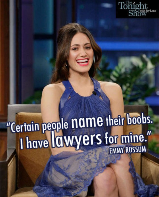 Emmy Rossum Hot in blue dress at Tonight Show with Jay Leno
