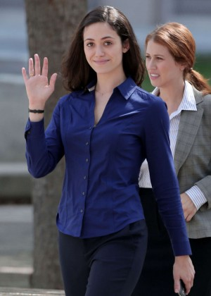 Emmy Rossum Filming 'Shamless' set in LA