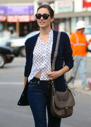 Emmy Rossum in Tight Jeans Out in LA
