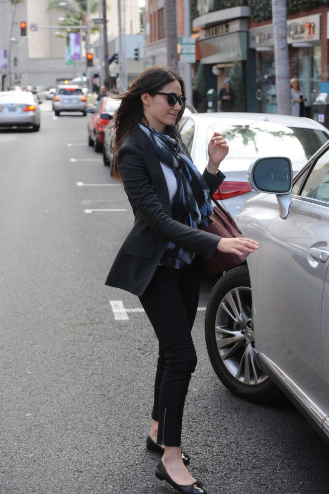 Emmy Rossum in Tight Pants -17