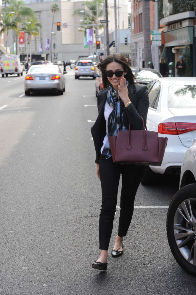 Emmy Rossum in Tight Pants -22
