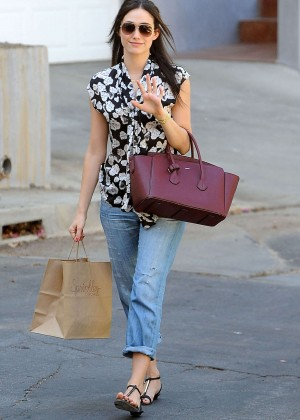 Emmy Rossum in Jeans -19