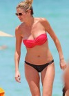 Erin Andrews Hot in red top bikini in Miami