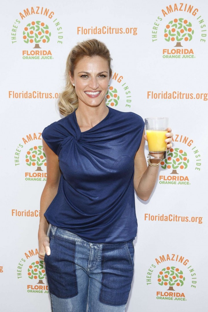 Erin Andrews - Florida Orange Juice Tailgate Event in New York City