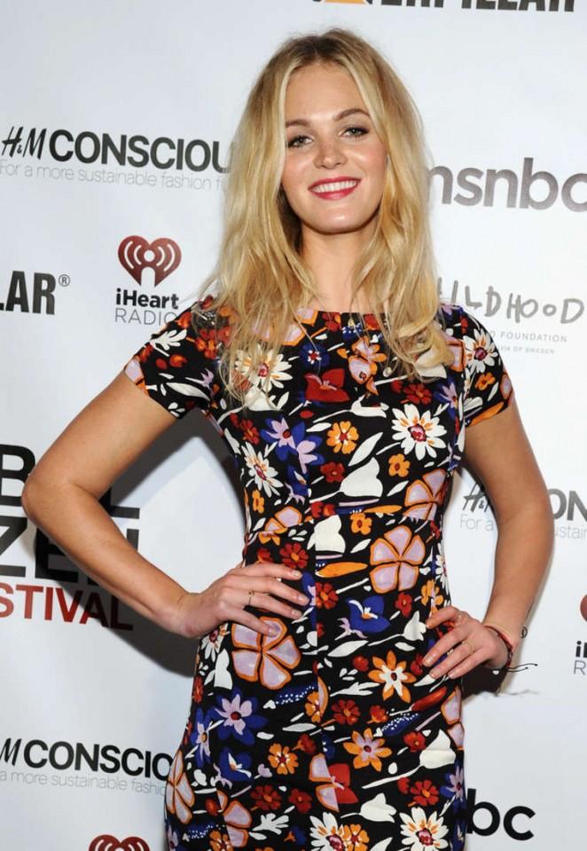 Erin Heatherton - 2014 Global Citizen Festival VIP Lounge in NYC