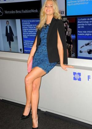 Erin Heatherton - Badgley Mischka Spring 2015 Fashion Show in NYC
