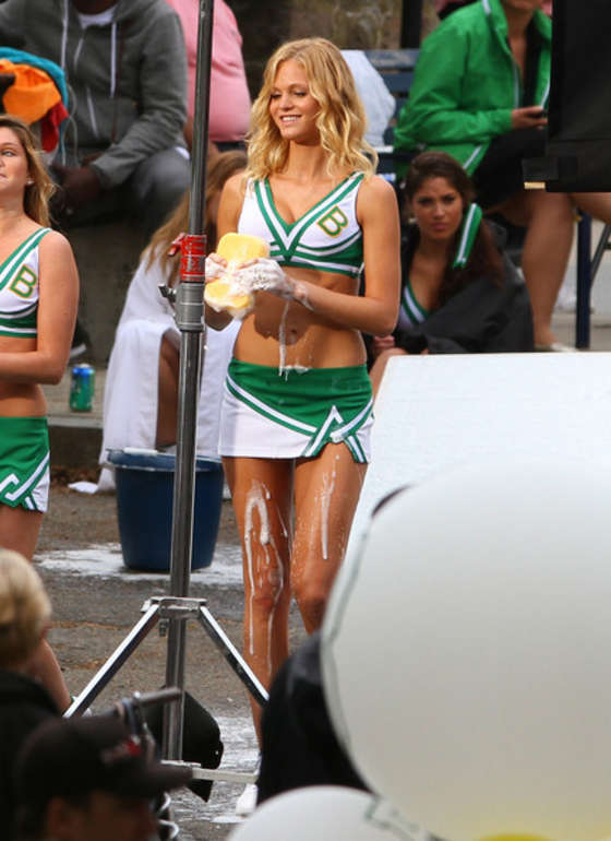 Erin Heatherton – HOT Car wash in cheerleader outfit-12