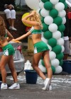 Erin Heatherton - HOT Car wash in cheerleader outfit-13