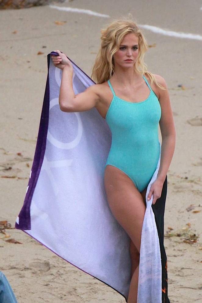 Erin Heatherton in Swimsuit Photoshoot for Roxy in Malibu