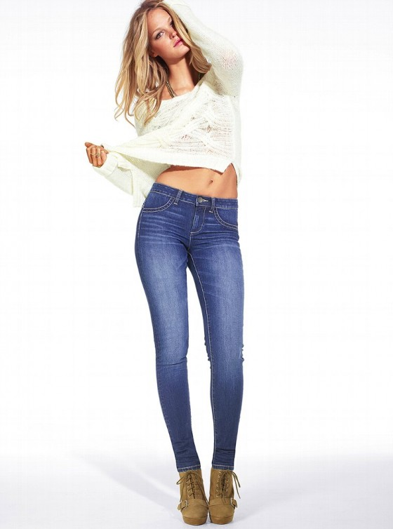 Erin Heatherton for Victoria's Secret Lingerie & Tight Jeans Photoshoot Jan 2013