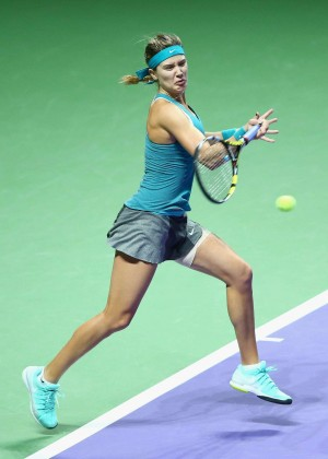 Eugenie Bouchard at WTA Finals 2014 in Singapore