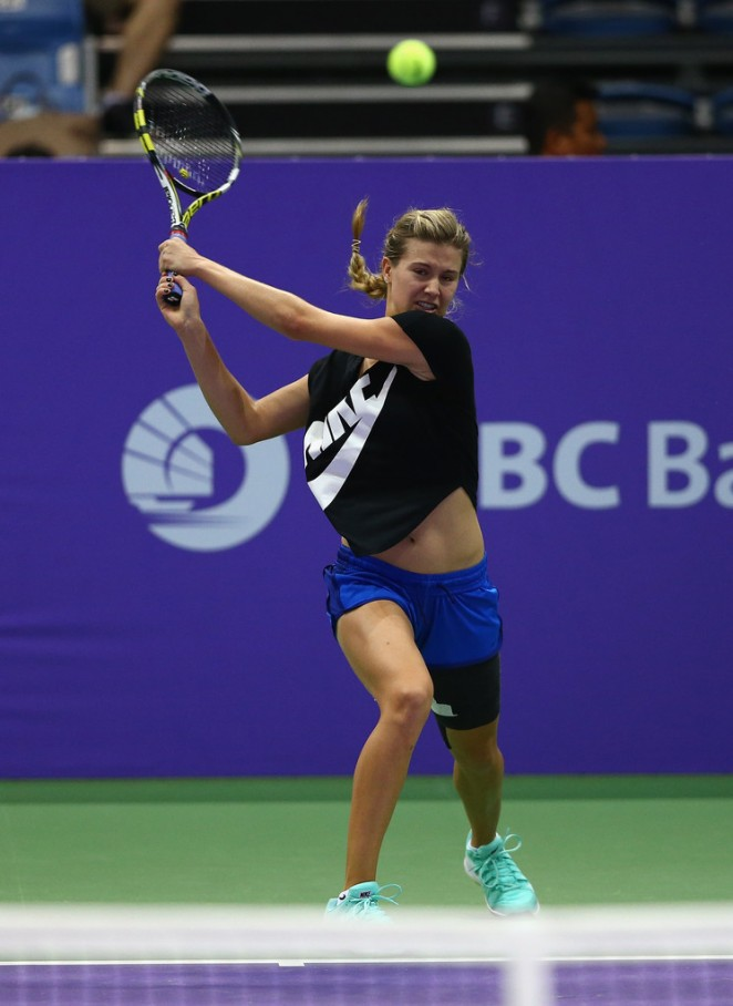 Eugenie Bouchard at Practices prior to the BNP Paribas WTA Finals in Singapore