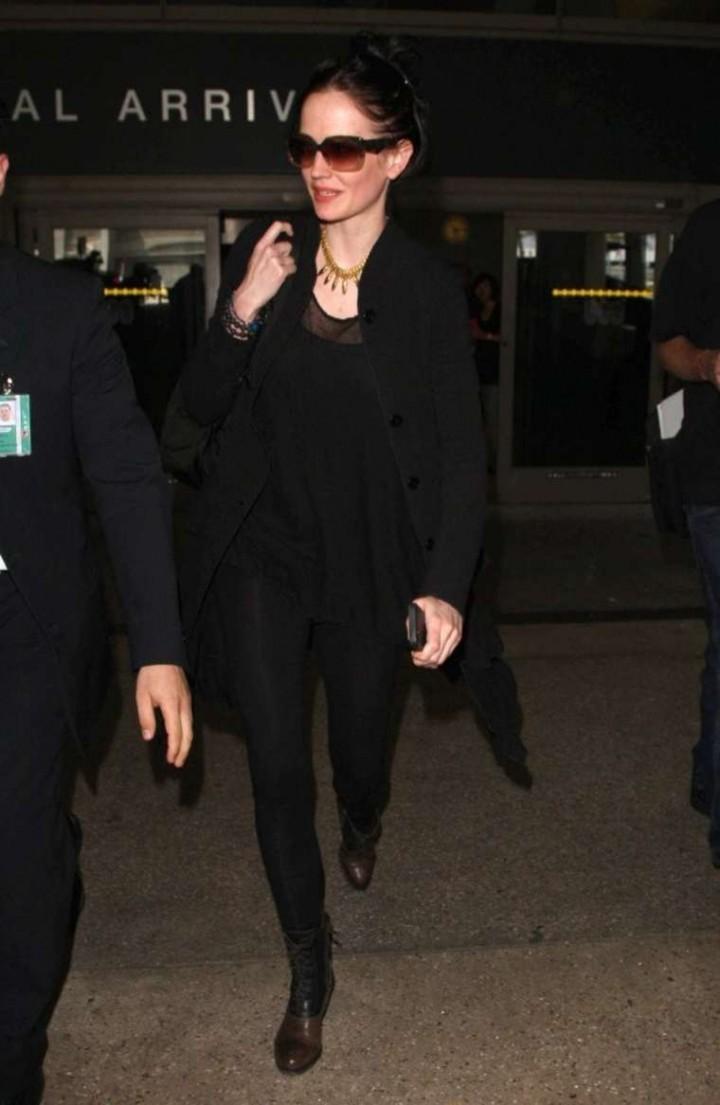 Eva Green at LAX Airport in LA