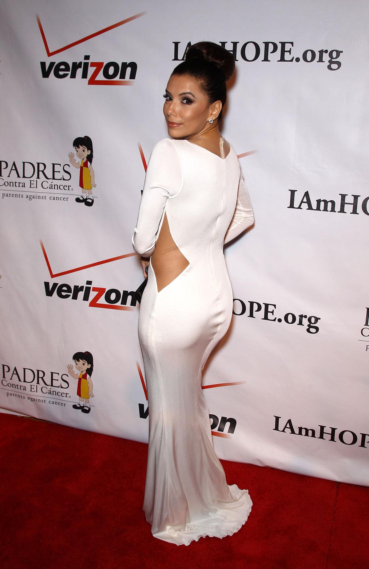 Eva Longoria - Hot In Tight White Dress at 2012 Padres Contra El Cancer Gala-03 | GotCeleb