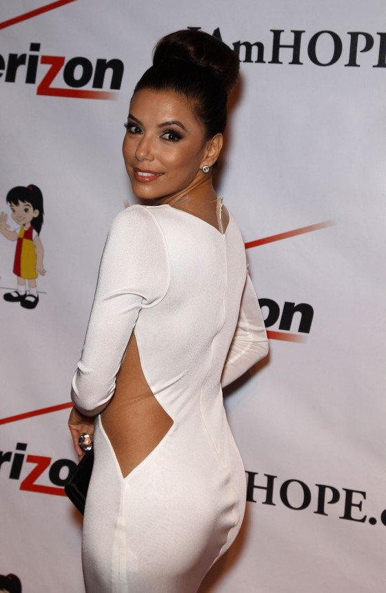 Eva Longoria – Hot In Tight White Dress at 2012 Padres Contra El Cancer Gala-11