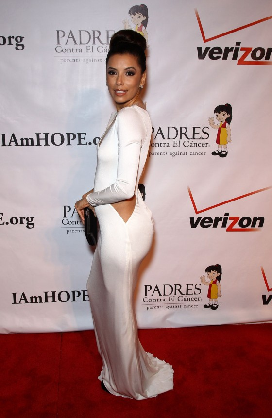 Eva Longoria – Hot In Tight White Dress at 2012 Padres Contra El Cancer Gala-12
