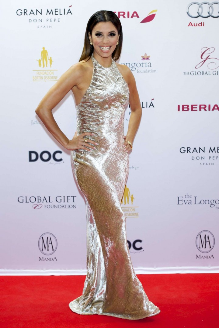 Eva Longoria at 2014 Global Gift Gala in Marbella