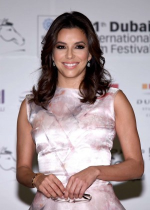Eva Longoria at Global Gift Gala Press Conference at 11th Annual Dubai International Film Festival