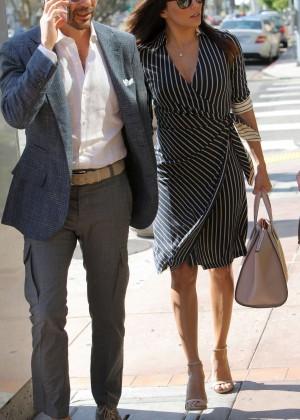 Eva Longoria at Mr Chow Restaurant -08