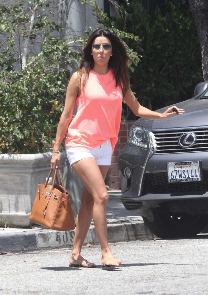Eva Longoria leggy candids in LA -07