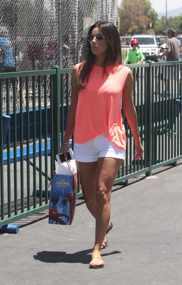 Eva Longoria leggy candids in LA -12
