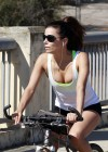 Eva Longoria Photos: Riding a bike in Los Angeles -01