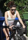 Eva Longoria Photos: Riding a bike in Los Angeles -03