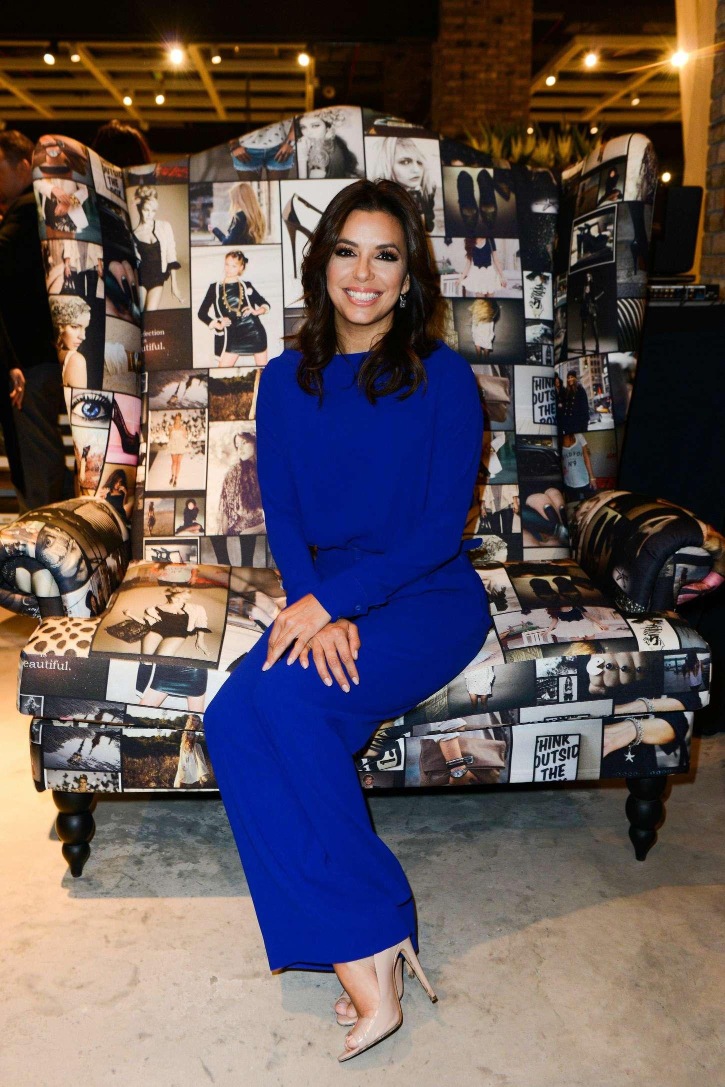 Eva Longoria Visits Marina Interiors Furniture Store in Dubai