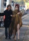 Eva Mendes - Leggy Candids on the set of Holly Motors in Paris-06