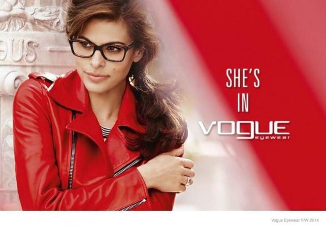 Eva Mendes: Vogue Eyewear Campaign 2014 -01