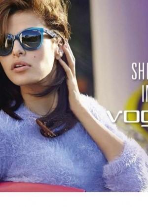 Eva Mendes - Vogue Eyewear 2014 Fall Ad Campaign