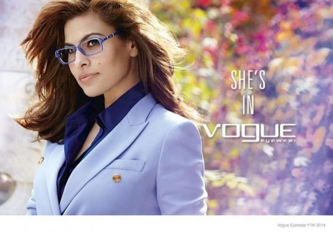 Eva Mendes: Vogue Eyewear Campaign 2014 -04