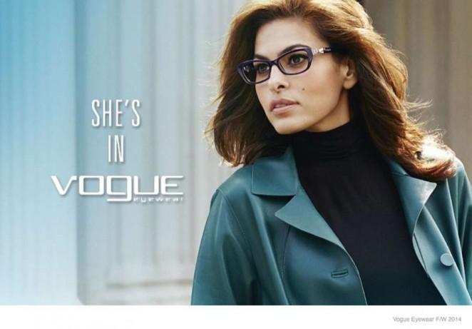 Eva Mendes: Vogue Eyewear Campaign 2014 -05