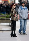 Evan Rachel Wood tight pants on set of A Case of you-04