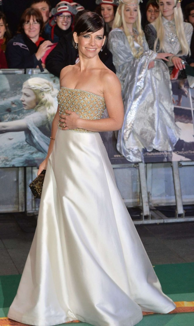 "Evangeline Lilly - ""The Hobbit: The Battle of the Five Armies"" Premiere in London"