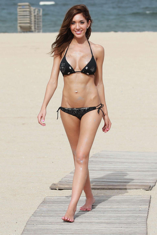 Farrah Abraham in a bikini at the beach in Fort Lauderdale