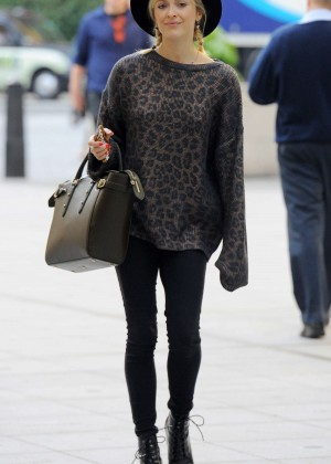 Fearne Cotton in Tights at BBC Radio 1 Studios in London