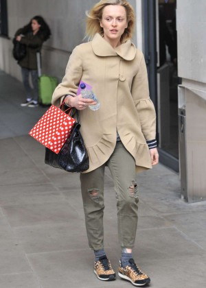 Fearne Cotton in Ripped Pants at BBC Radio 1 Studios in London