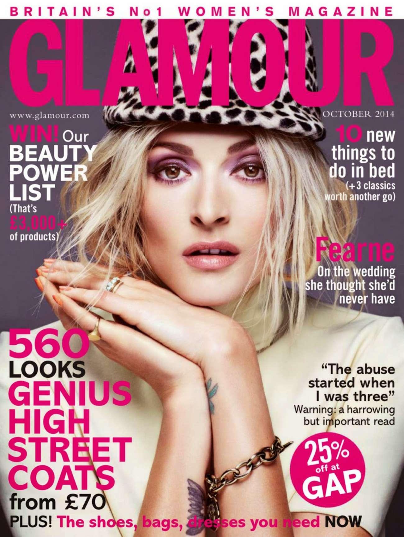 Fearne Cotton Glamour Uk Magazine October 2014