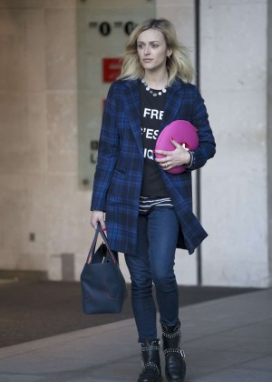 Fearne Cotton in Jeans Leaves BBC Radio 1 Studios in London