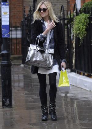 Fearne Cotton in Mini Dress Out in London