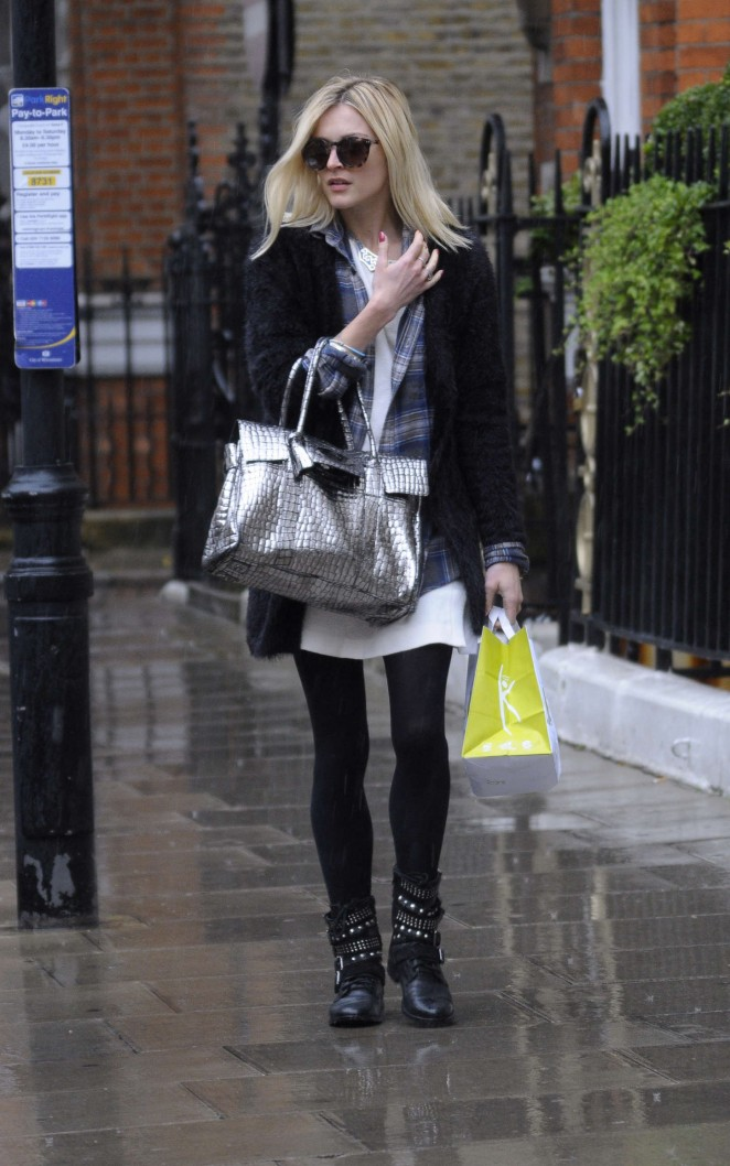Fearne Cotton in Mini Dress Out in London