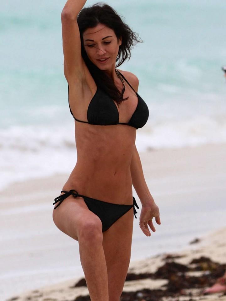 Federica Torti – Black Bikini Candids in Miami