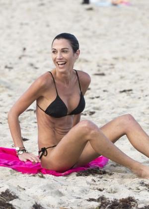 Federica Torti Black Bikini Photos: 2014 in Miami -03