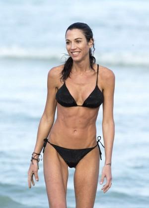 Federica Torti Black Bikini Photos: 2014 in Miami -04