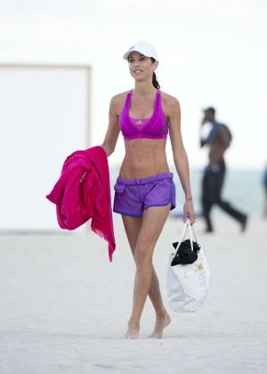 Federica Torti Black Bikini Photos: 2014 in Miami -08