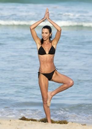 Federica Torti Black Bikini Photos: 2014 in Miami -11