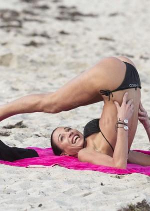 Federica Torti Black Bikini Photos: 2014 in Miami -14