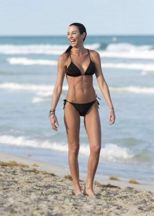 Federica Torti Black Bikini Photos: 2014 in Miami -17