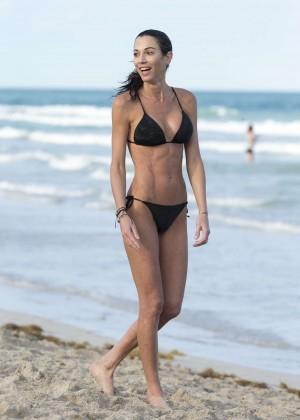 Federica Torti Black Bikini Photos: 2014 in Miami -18
